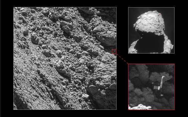 Rosetta's OSIRIS camera team has found the silent Philae lander on the surface of comet 67P