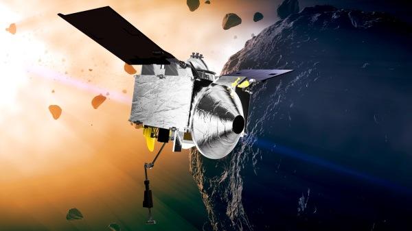 Artist's concept of OSIRIS-REx (NASA/Goddard)