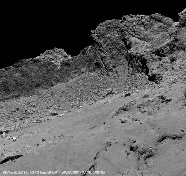 Comet 67P imaged by Rosetta on Sept. 30, 2016 (ESA/Rosetta/MPS for OSIRIS Team MPS/UPD/LAM/IAA/SSO/INTA/UPM/DASP/IDA)