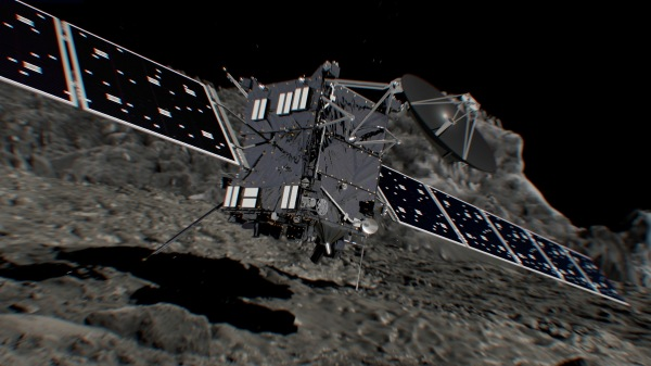 ESA's Rosetta mission has come to an end with the spacecraft's impact on Sept. 30, 2016. (Illustration by ESA/ATG medialab)