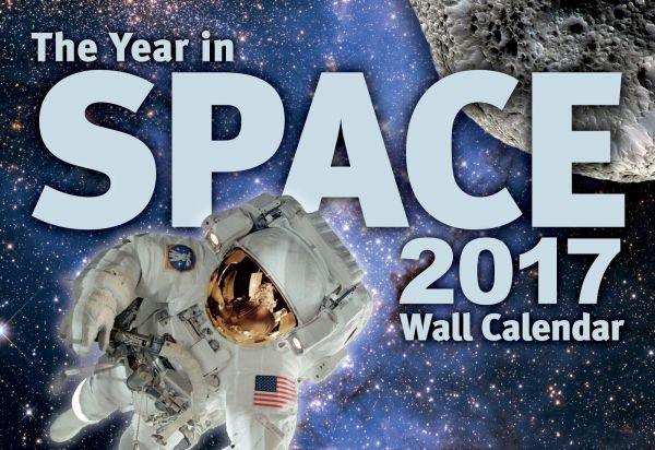If The Year in Space calendar were any more densely packed with information it would become a black hole. And try hanging one of those on your wall.