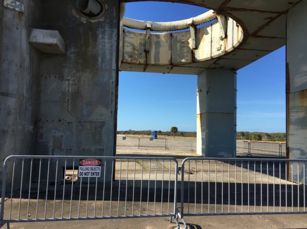 The launch tower foundation is all that remains today at Launch Complex 34 at Cape Canaveral as a crumbling memory of that fateful day in January 1967. (Image credit: Catherine @wardniner on Twitter)