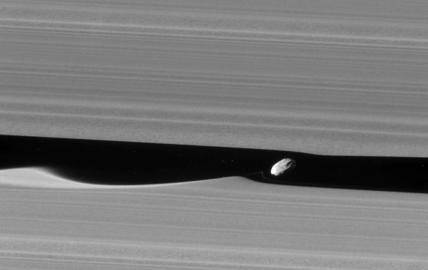Image of Daphnis captured by Cassini on Jan. 18, 2017. (NASA/JPL-Caltech/SSI)