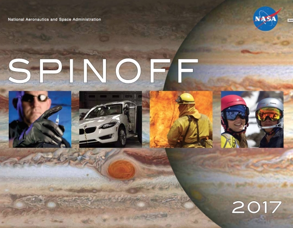 NASA's Spinoff 2017 showcases how its technology is in use here on Earth.