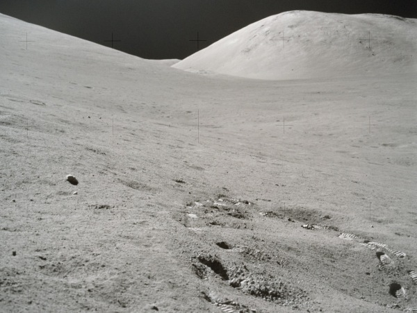 Gene Cernan's footprints on the Moon. (NASA)