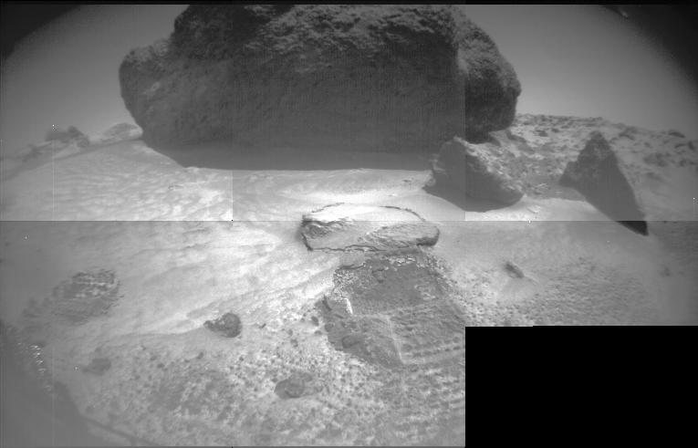 "A view of ""Yogi"" captured by Sojourner. (NASA/JPL-Caltech)"