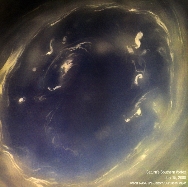 Saturn South Pole Look Into The Dark Eye...