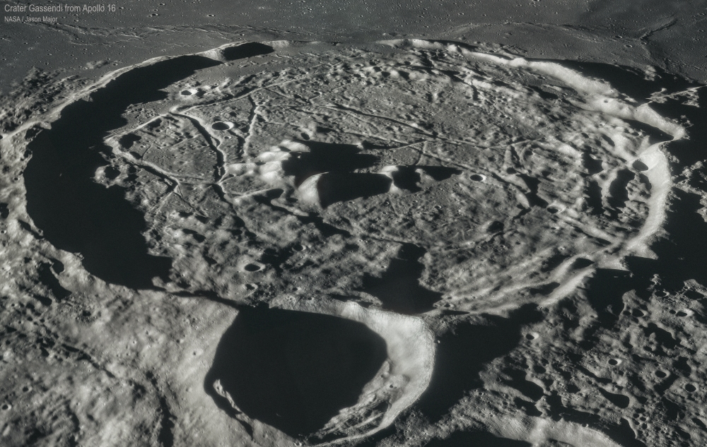 Crater Gassendi Apollo 16 April 1972